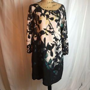 Anthropologie Maeve Shaded Garden Floral Dress